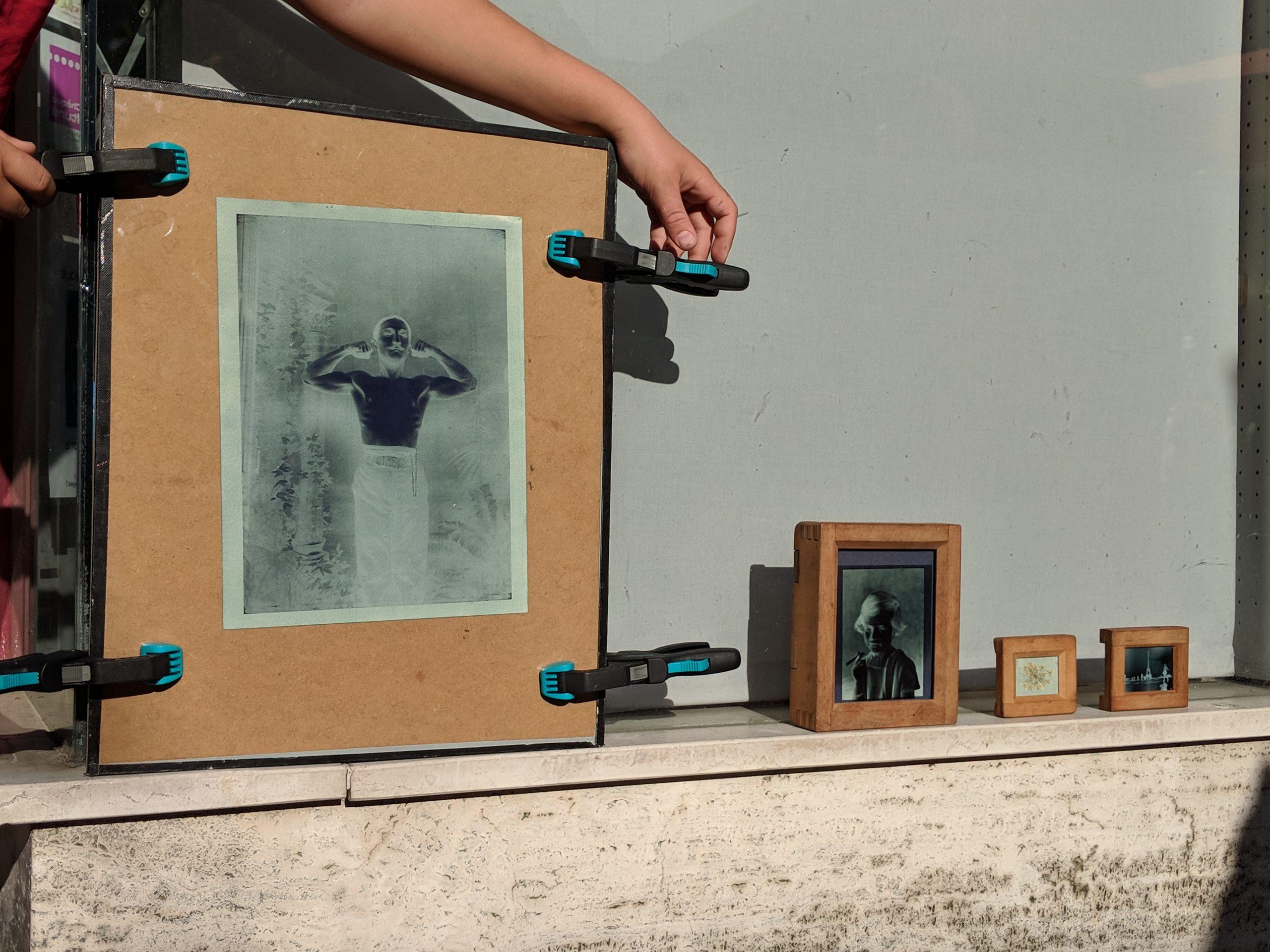 Atelier cyanotype à Beaugency