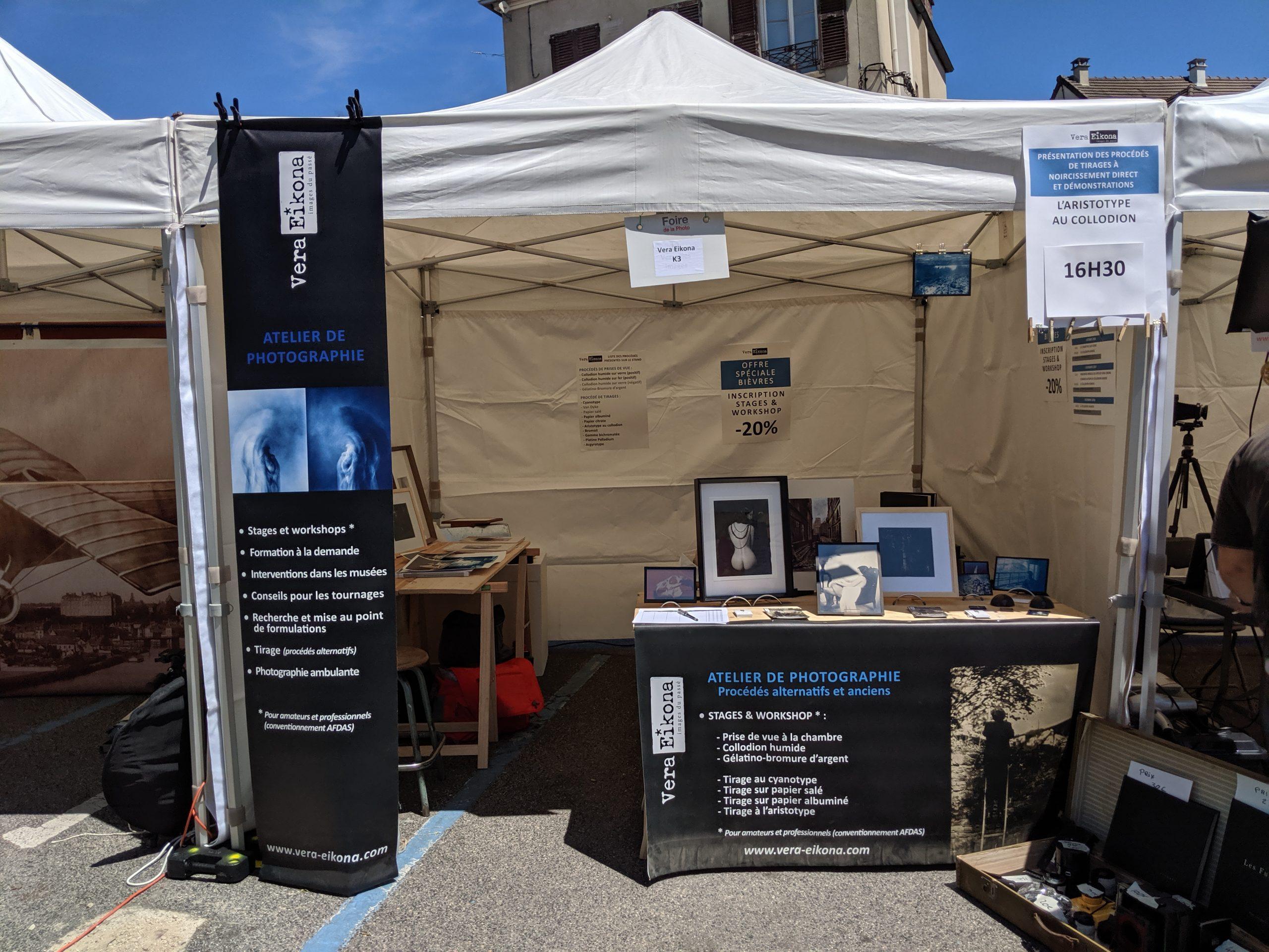 Mes cyanotypes à découvrir à la Foire Internationale de la photographie à Bièvres – 01/02 juin 2019